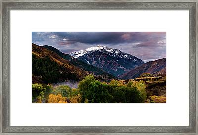 Framed Print featuring the photograph Cascade Mountain by TL Mair