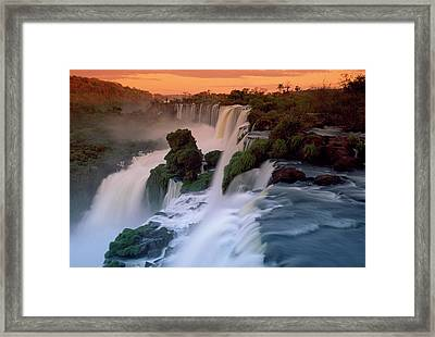 Cascades Of The Iguacu Falls, The Framed Print by Thomas Marent/ Minden Pictures