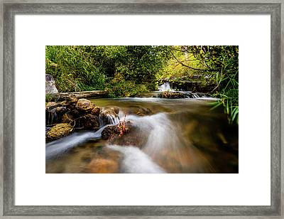 Framed Print featuring the photograph Cascades On The Provo Deer Creek by TL Mair