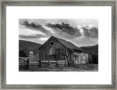 Casey's Barn - Monochrome Framed Print