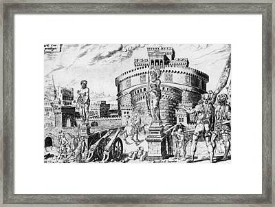 Castel San Angelo Framed Print by Hulton Archive
