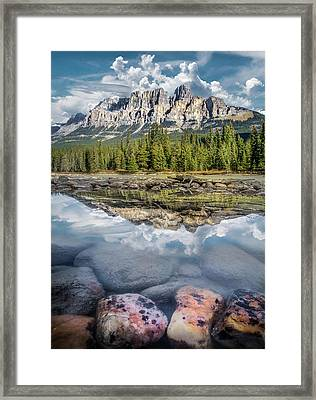 Framed Print featuring the photograph Castle Mountain / Alberta, Canada  by Nicholas Parker
