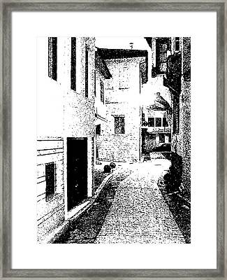 Alley In The Castle Of Ioannina Framed Print