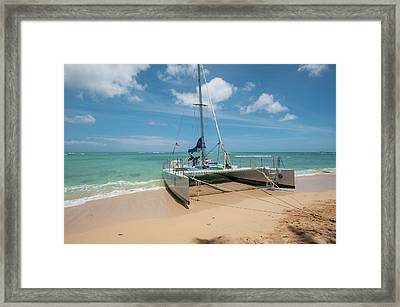 Catamaran On Waikiki Framed Print