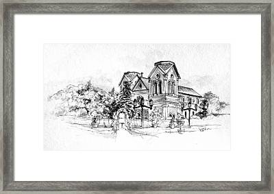 Cathedral Basilica Of St. Francis Of Assisi - Santa Fe, New Mexico Framed Print