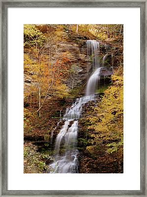 Framed Print featuring the photograph Cathedral Falls by Pete Federico