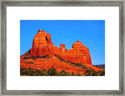 Cathedral Rock Framed Print by Fernando Margolles