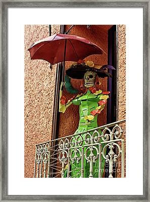 Framed Print featuring the photograph Catrina Bonita In The Balcony by Tatiana Travelways