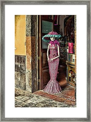 Framed Print featuring the photograph Catrina Welcomes You by Tatiana Travelways