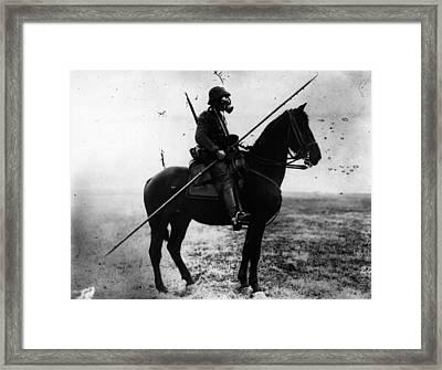 Cavalryman Framed Print by Topical Press Agency