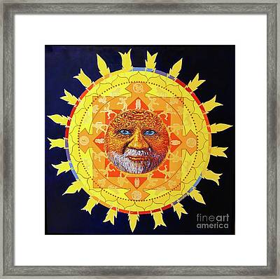 Cbs Sunday Morning Sun Mandala Framed Print