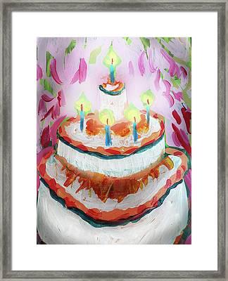 Celebration Cake Framed Print