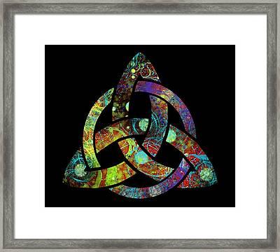 Celtic Triquetra Or Trinity Knot Symbol 3 Framed Print
