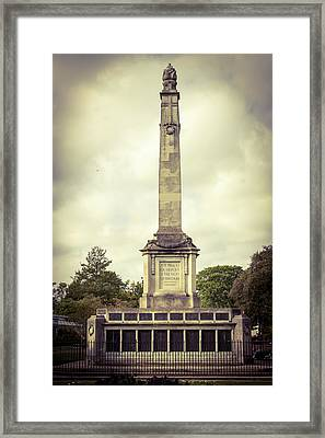 Framed Print featuring the photograph Cenotaph by JLowPhotos