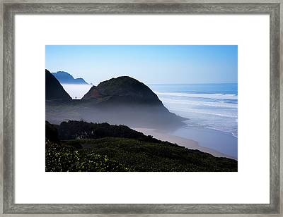 Framed Print featuring the photograph Central Oregon Coast 101718 by Rospotte Photography