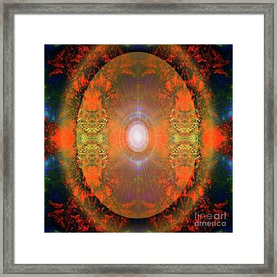 Framed Print featuring the mixed media Central Sun by Sabine ShintaraRose Art