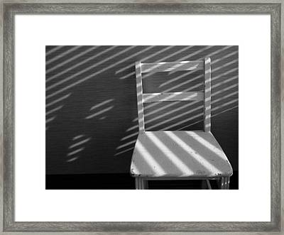 Blinds 2 / The Chair Project Framed Print
