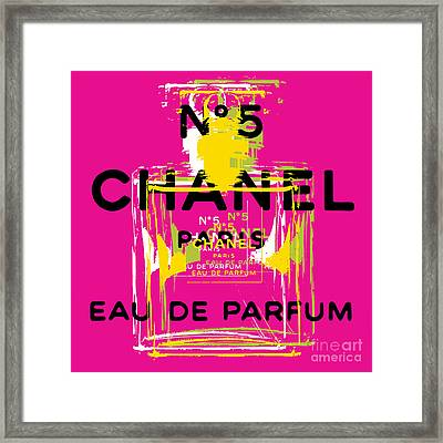 Chanel No 5 Pop Art - #3 Framed Print