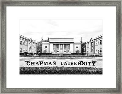 Chapman University Memorial Hall Framed Print
