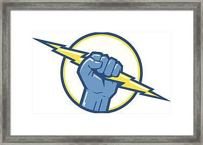 Charge Fist Framed Print by Big ryan