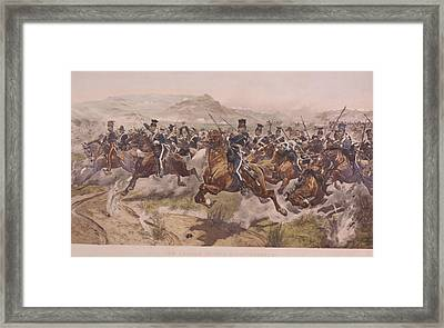 Charge Of The Light Brigade Framed Print by Fotosearch