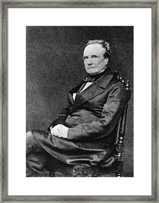 Charles Babbage Framed Print by Hulton Archive