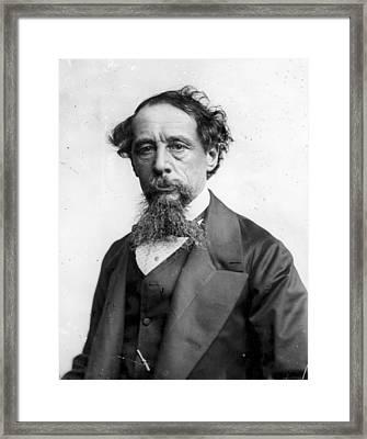 Charles Dickens Framed Print by Rischgitz