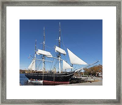 Framed Print featuring the photograph Charles W Morgan - Mystic Ct by Kirkodd Photography Of New England