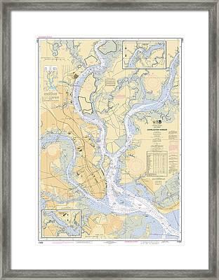 Charleston Harbor, Noaa Chart 11524 Framed Print