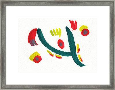 Framed Print featuring the painting Chasing by Bee-Bee Deigner