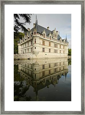 Framed Print featuring the photograph Chateau Azay-le-rideau, by Stephen Taylor