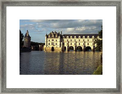 Chateau Chenonceaux On The Cher River Framed Print