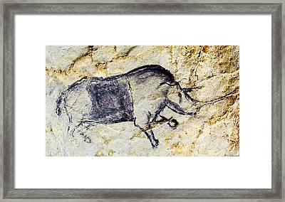 Chauvet Rhinoceros Framed Print
