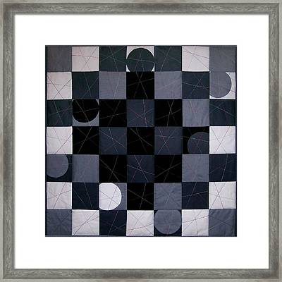 Checkers And Pick-up-sticks Framed Print