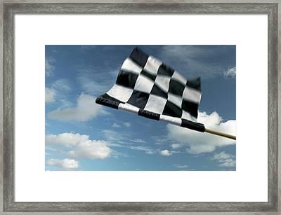 Checkered Flag Framed Print by James W. Porter