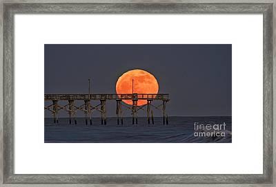 Cheddar Moon Framed Print