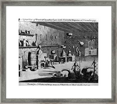 Chemistry Laboratory Framed Print by Hulton Archive