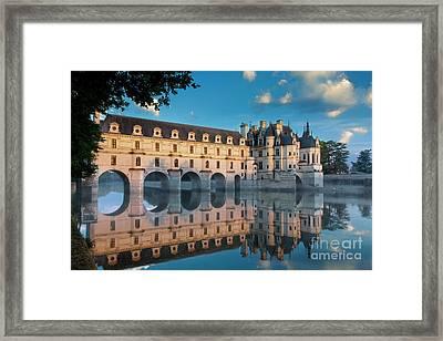 Chenonceau Dawn Framed Print