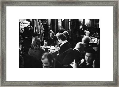 Chess At Cafe Fiagro Framed Print by Fred W. McDarrah
