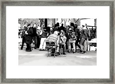 Chess Match Union Square  Framed Print