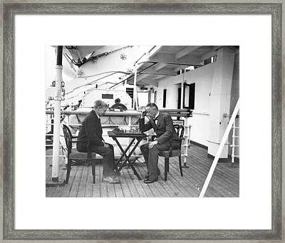 Chess On Board Framed Print by W. G. Phillips