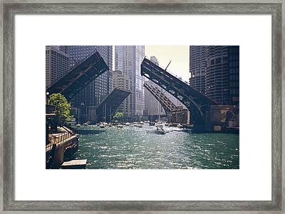 Chicago Bridges Framed Print