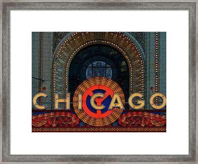 Chicago Emblem Framed Print