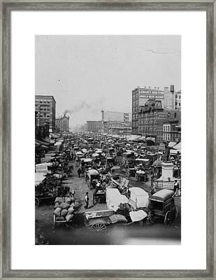 Chicago Haymarket Framed Print by Hulton Archive