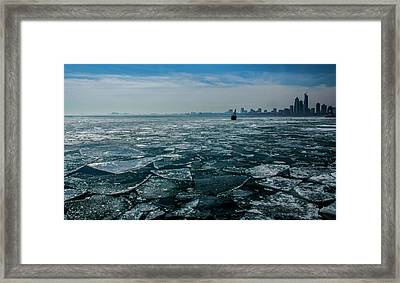 Chicago In Winter Framed Print