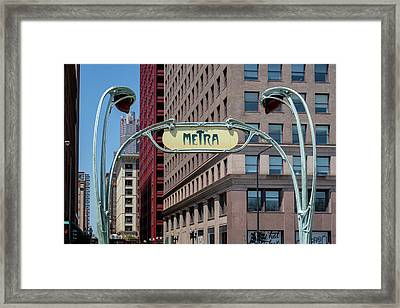 Framed Print featuring the photograph Chicago Metra by Melanie Alexandra Price