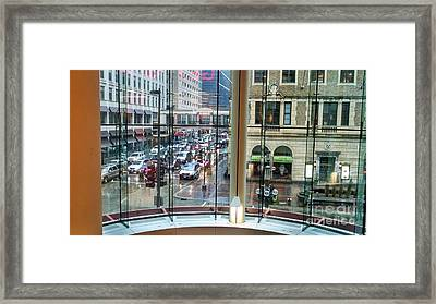 Framed Print featuring the photograph Chicago Streets by Rosanne Licciardi