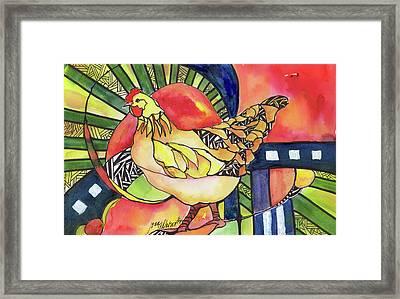 Chicken Red Framed Print