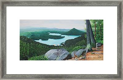 Framed Print featuring the painting Chilhowee Overlook by Mike Ivey