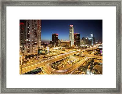 China World Trade Center Framed Print by Dukai Photographer